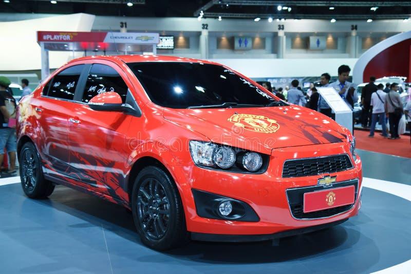 Nouvelle édition de voiture de Manchester United de Chevrolet photos libres de droits