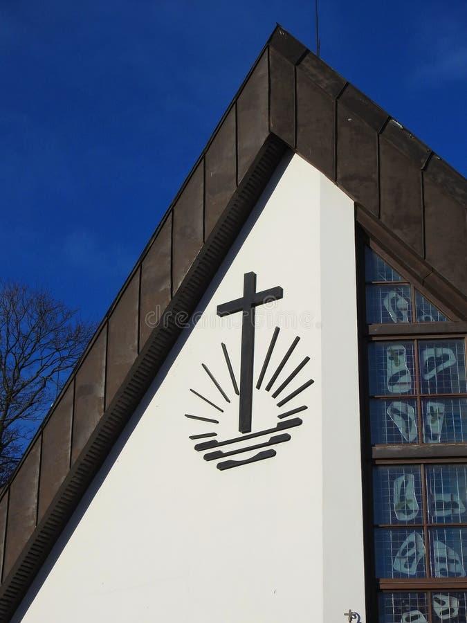 Nouvelle église apostolique dans Silute, Lithuanie image libre de droits