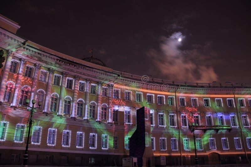 Nouvelle année à St Petersburg image stock