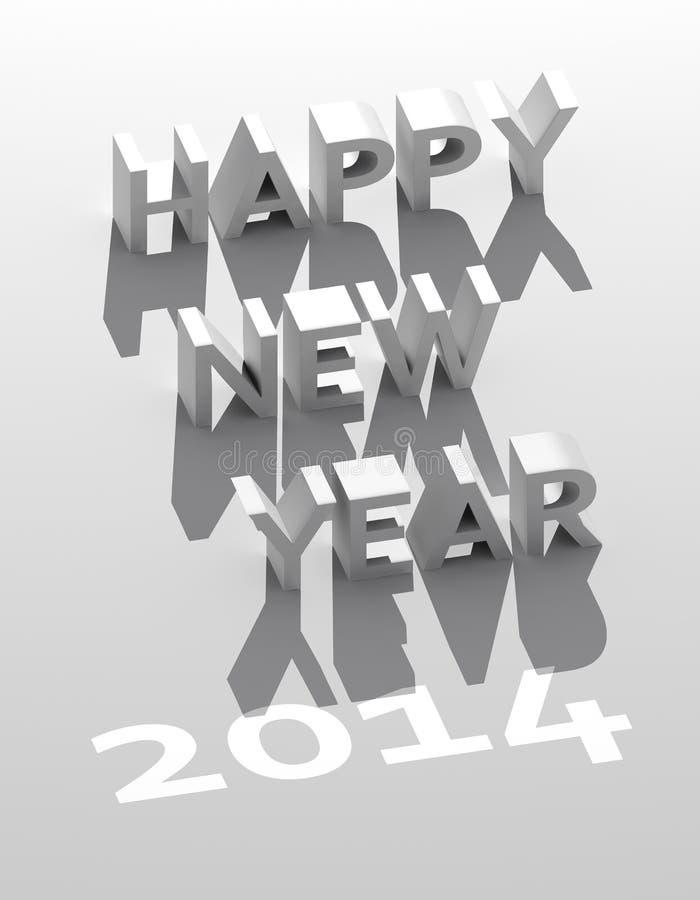 Nouvelle année 2014 illustration stock