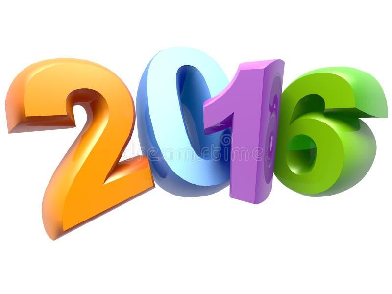 Nouvelle année 2016 illustration de vecteur