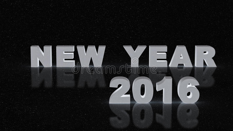 Nouvelle année 2016 photographie stock libre de droits