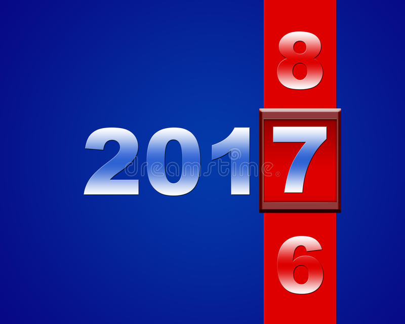 Nouvelle année 2016 illustration libre de droits