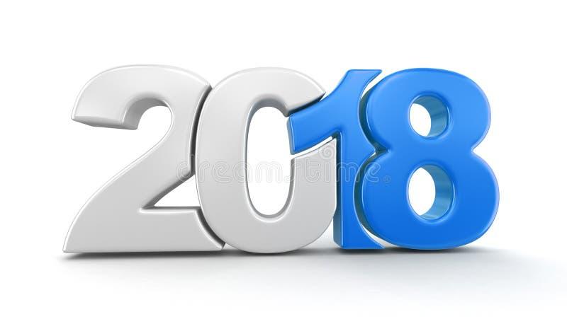 Nouvelle année 2018 illustration stock