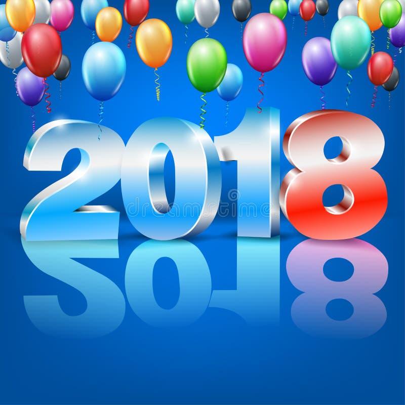 Nouvelle année 2018 illustration libre de droits