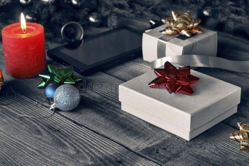 Nouvelle année, 2019, cadeaux du ` s de nouvelle année, fond du ` s de nouvelle année, brûlant photo libre de droits