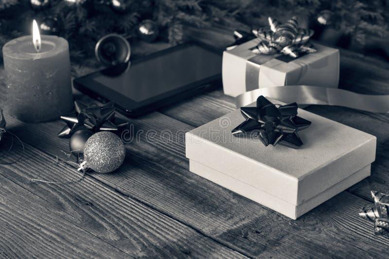 Nouvelle année, 2019, cadeaux du ` s de nouvelle année, fond du ` s de nouvelle année, brûlant photo stock
