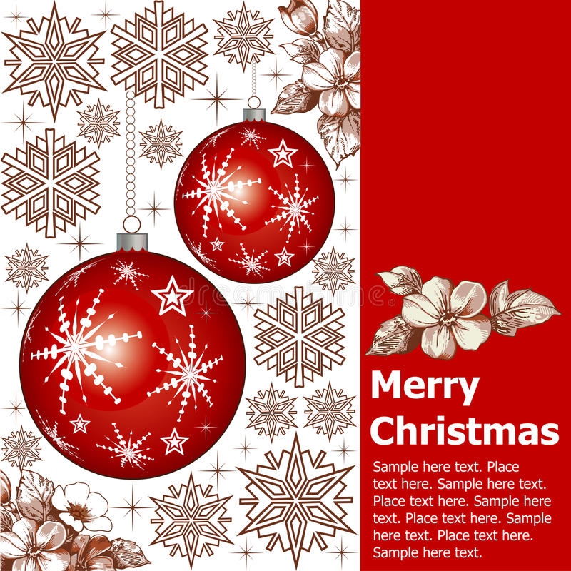 Nouvelle année. Carte de Noël de salutation. illustration de vecteur