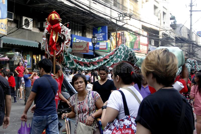 Nouvelle année chinoise à Manille Chinatown photo libre de droits