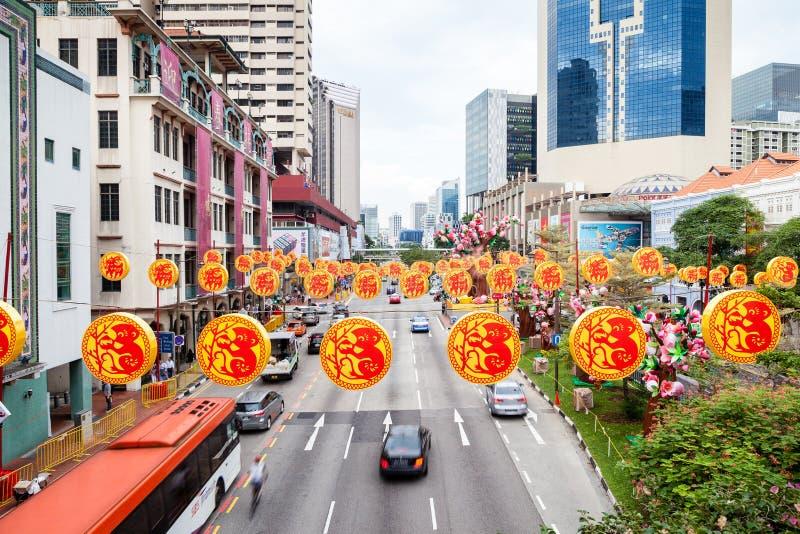 Nouvelle année chinoise à Singapour Chinatown image stock
