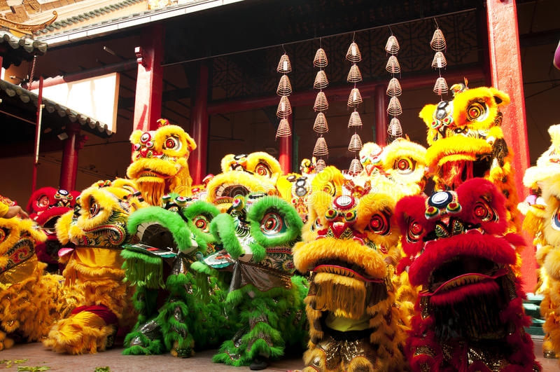 Nouvelle année chinoise Lion Dance photo stock