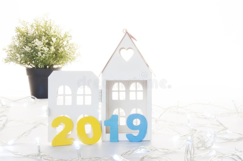 Nouvelle année 2019 Concept de propriété : Achat ou vente Real Estate dans 201 images libres de droits
