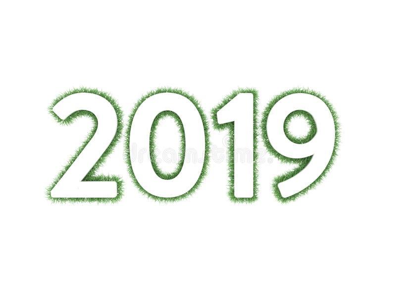 Nouvelle année 2019 - 3D a rendu l'image illustration libre de droits