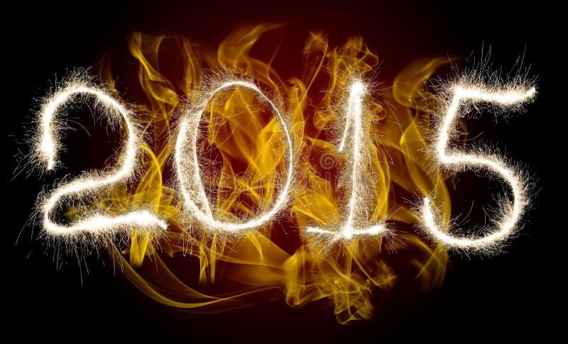 Nouvelle année 2015 de date photos libres de droits