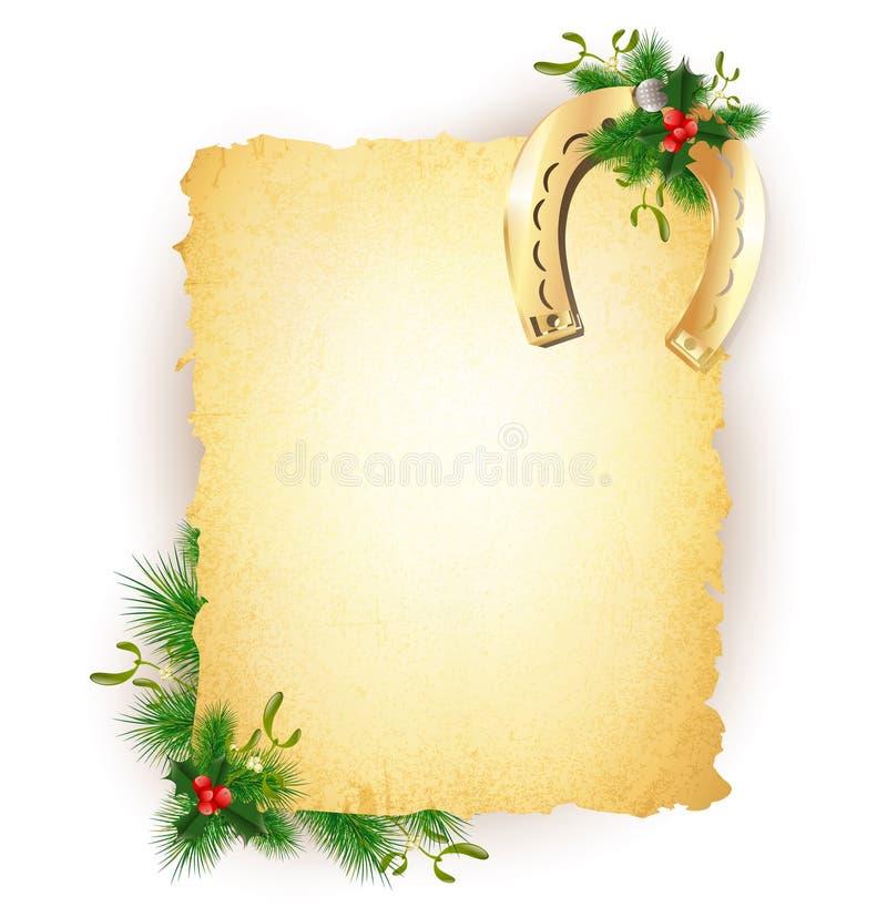 Nouvelle année et Noël illustration libre de droits