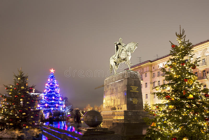 Nouvelle année Moscou images libres de droits