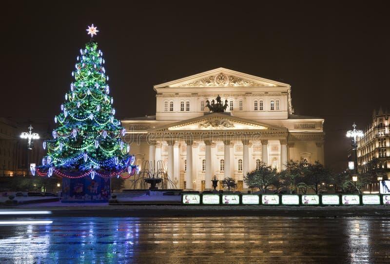 Nouvelle année Moscou de nuit image libre de droits