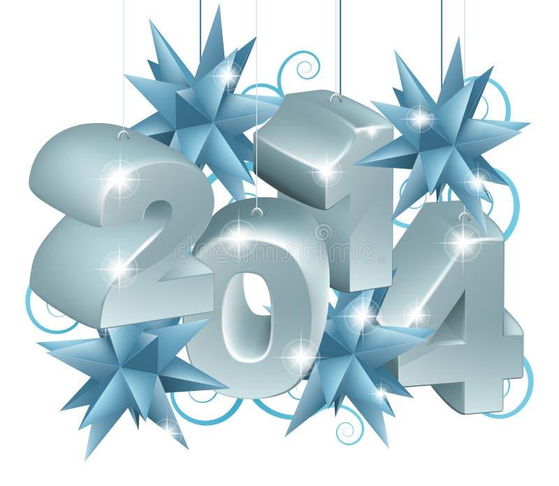 Nouvelle année ou Noël 2014 décorations illustration libre de droits
