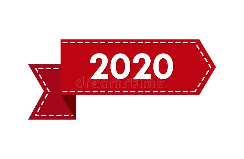Nouvelle ann?e 2020 Bande avec le numéro 2020 illustration stock
