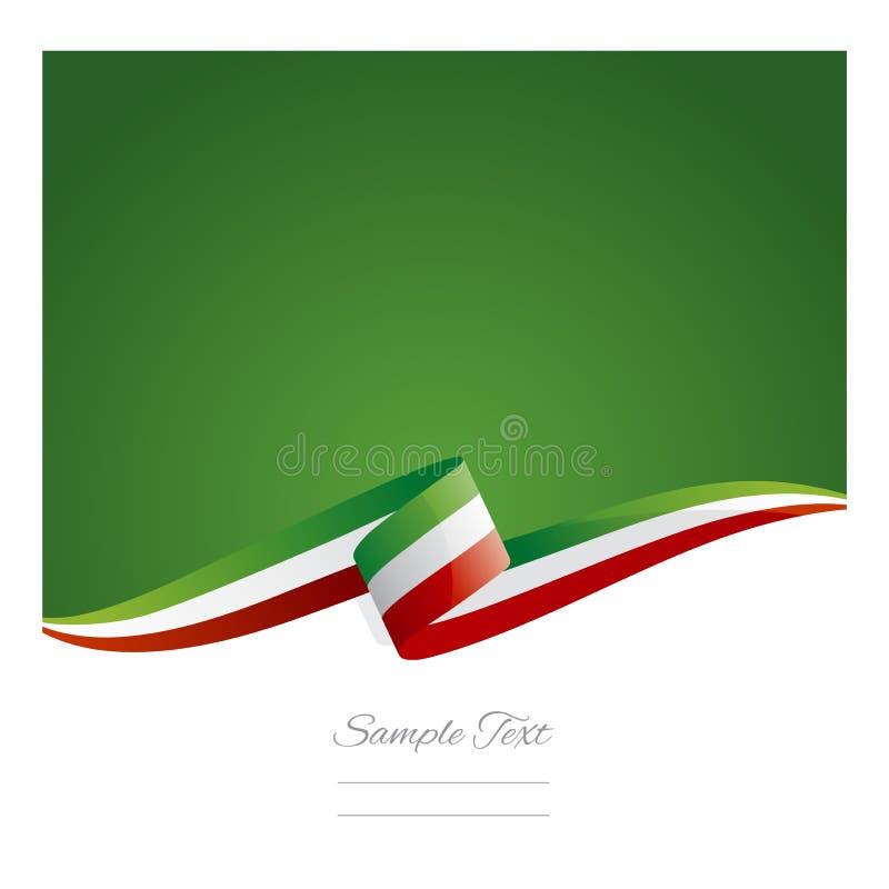 Nouvelle bannière abstraite de ruban de drapeau du Mexique illustration stock
