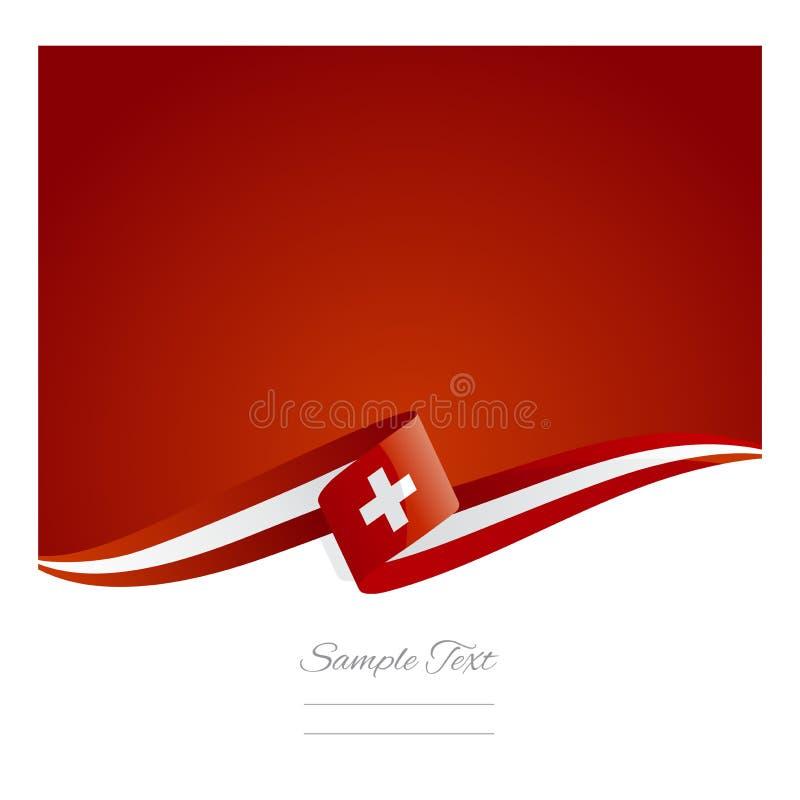 Nouvelle bannière suisse abstraite de ruban de drapeau illustration stock
