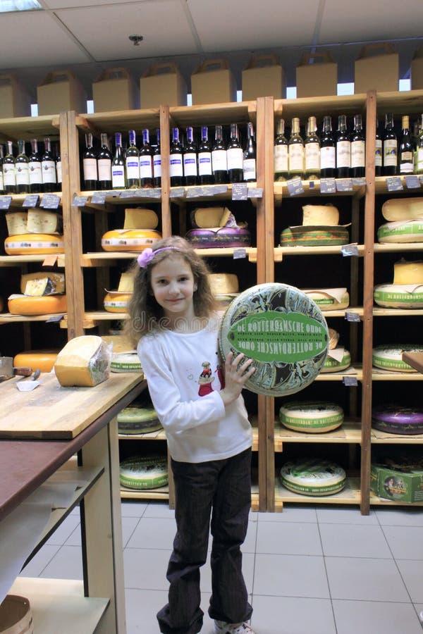 Nouvelle boutique de fromage image libre de droits