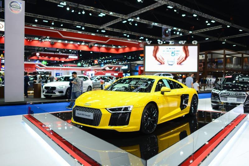 Nouvelle cabine d'exposition d'Audi R8 au SALON de l'AUTOMOBILE de BANGKOK 2018 à Bangkok, Thaïlande images stock