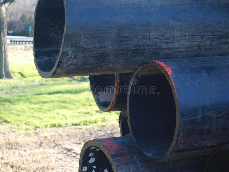 Nouvelle conduite d'eau pour le projet d'amélioration de capital photographie stock libre de droits