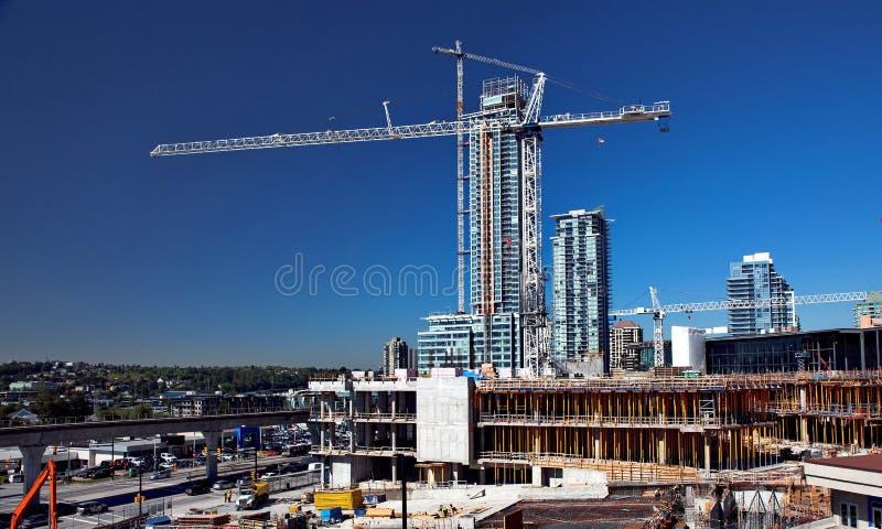 Nouvelle construction dans la ville de Burnaby photos stock