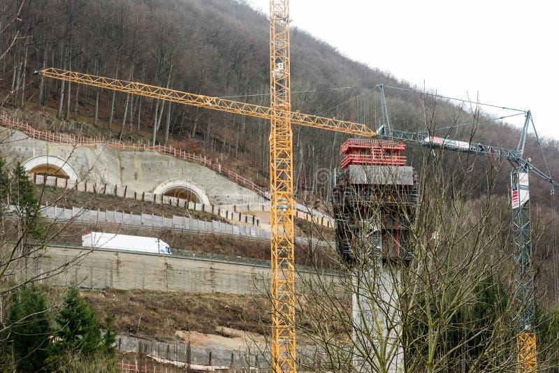 Nouvelle construction de tunnel - Stuttgart 21, Aichelberg images libres de droits