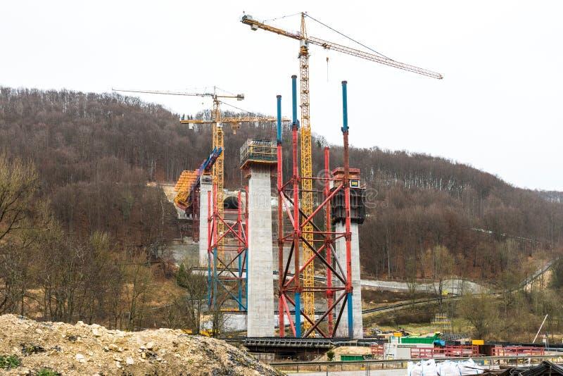 Nouvelle construction de tunnel - Stuttgart 21, Aichelberg photographie stock