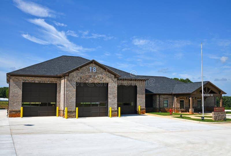 Nouvelle gare de secours et de secours du comté de Carroll Georgia image stock