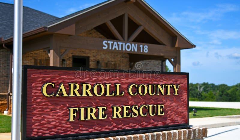 Nouvelle gare de secours et de secours du comté de Carroll Georgia photo libre de droits