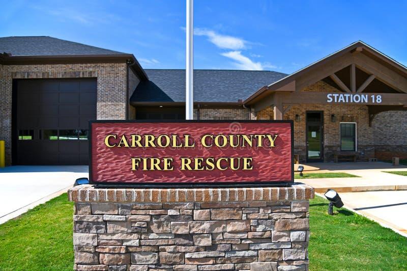 Nouvelle gare de secours et de secours du comté de Carroll Georgia images libres de droits