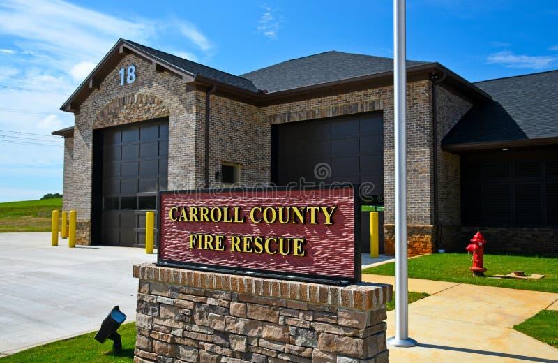 Nouvelle gare de secours et de secours du comté de Carroll Georgia photos stock