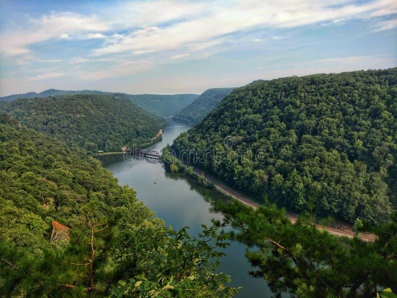 Nouvelle gorge de rivière, WV image stock