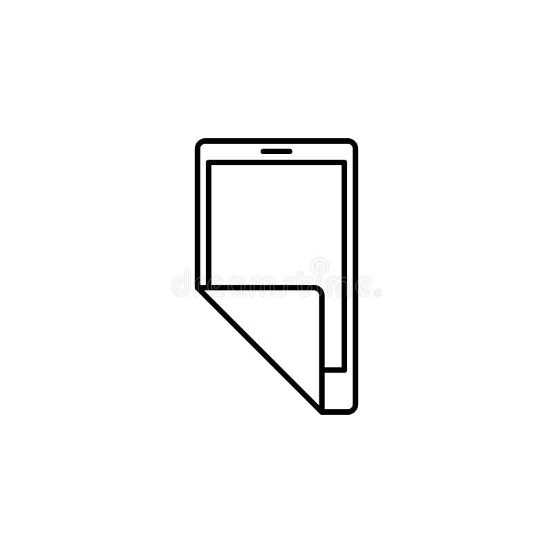 Nouvelle icône élastique mobile de téléphone Élément de la future icône de technologie pour les apps mobiles de concept et de Web illustration stock