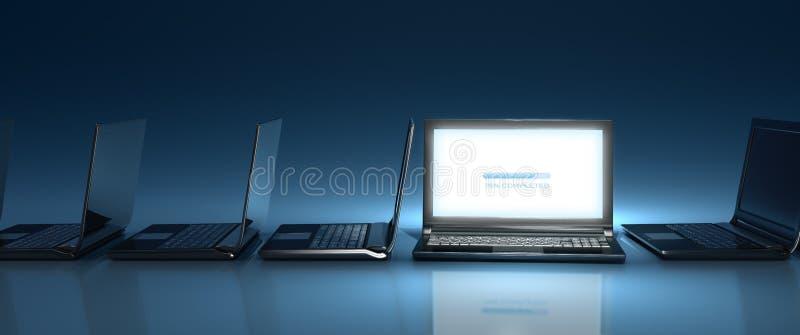Nouvelle introduction de site Web - écran géant illustration stock