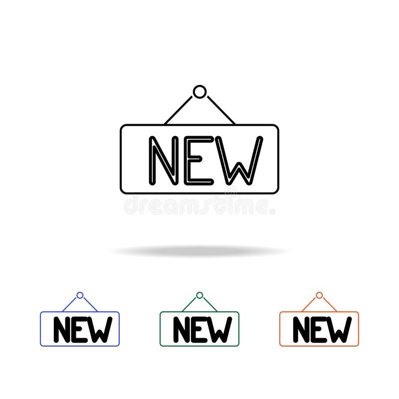 Nouvelle ligne icône de signe Éléments des immobiliers dans les icônes colorées multi Icône de la meilleure qualité de conception illustration libre de droits