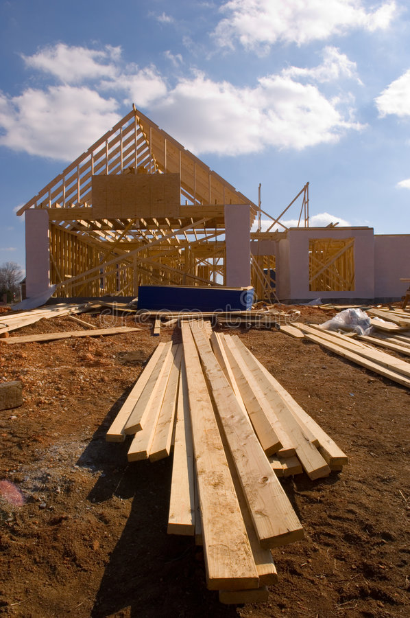 Nouvelle maison en construction photographie stock libre de droits