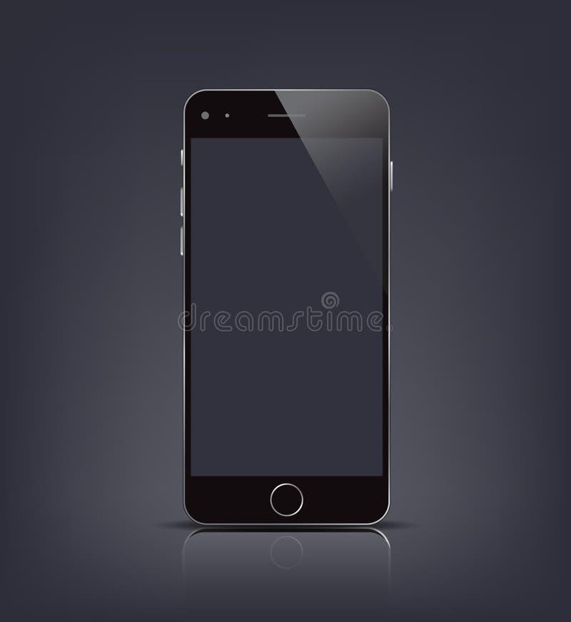 Nouvelle maquette réaliste de smartphone avec l'écran vide Illustration de vecteur pour l'élément impression et de Web, illustration libre de droits