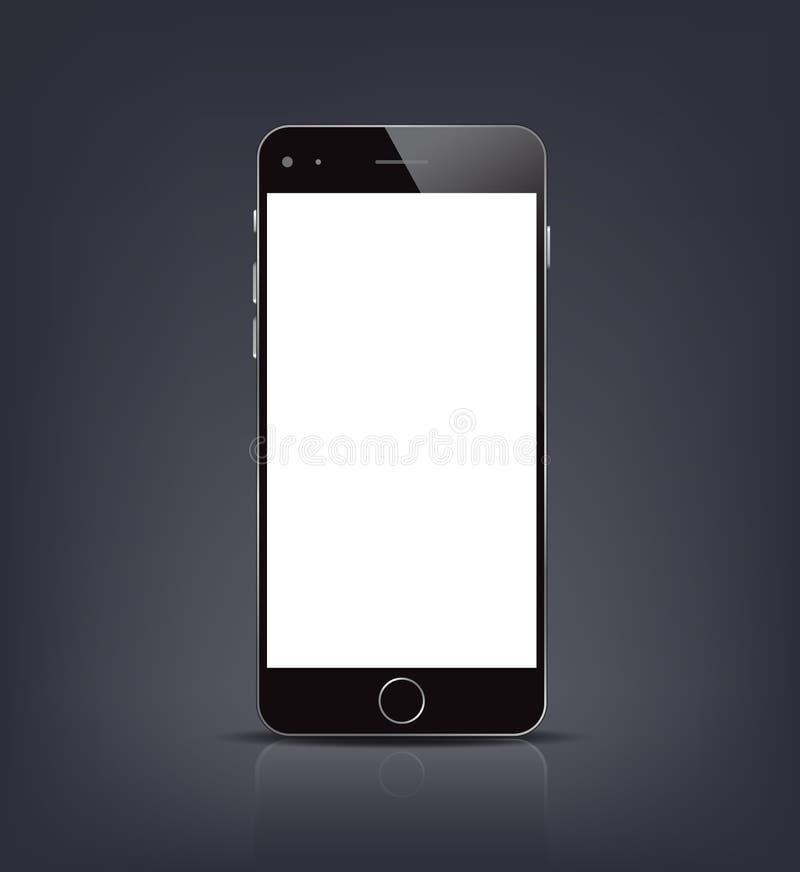 Nouvelle maquette réaliste de smartphone avec l'écran vide Illustration de vecteur pour l'élément impression et de Web, illustration de vecteur