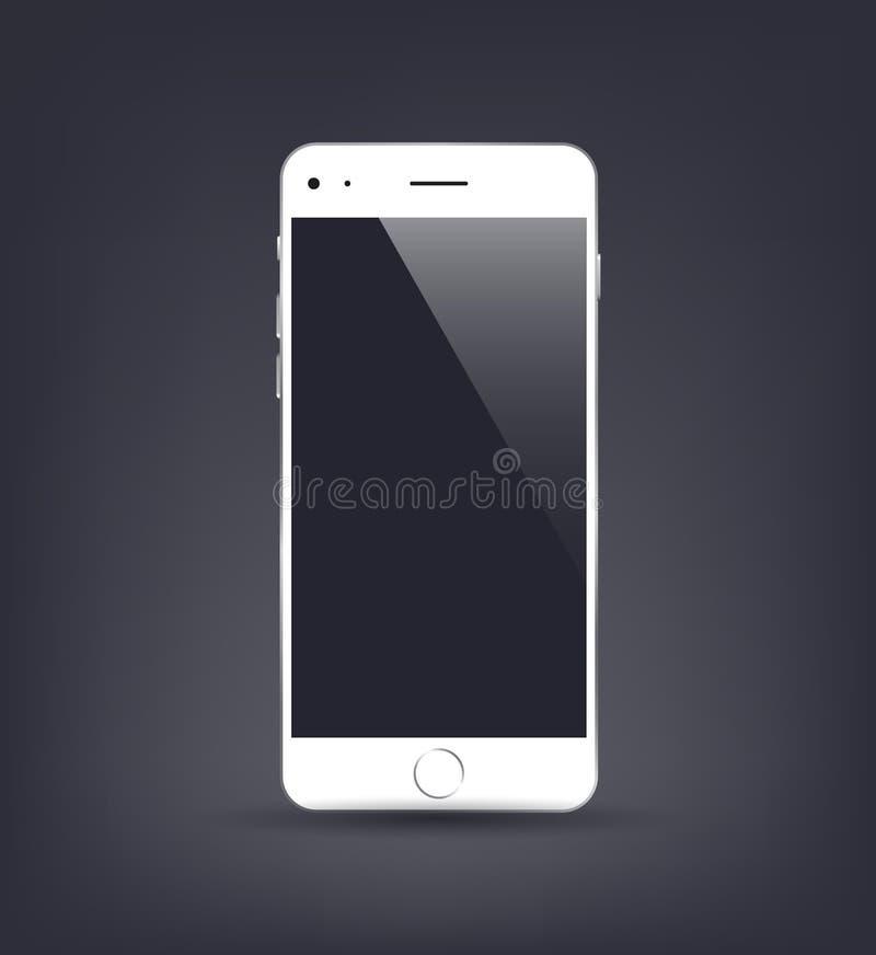 Nouvelle maquette réaliste de smartphone avec l'écran vide Illustration de vecteur pour l'élément impression et de Web, illustration stock