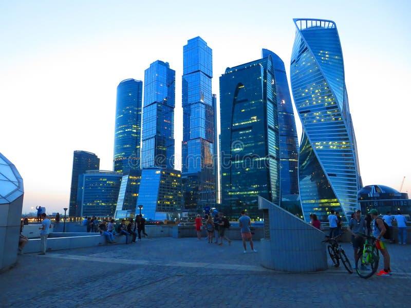 Nouvelle Moscou-ville ayant beaucoup d'étages de gratte-ciel photo stock