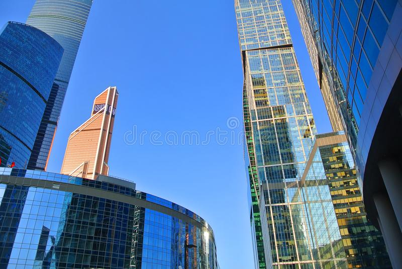 Nouvelle Moscou-ville ayant beaucoup d'étages de gratte-ciel photos stock