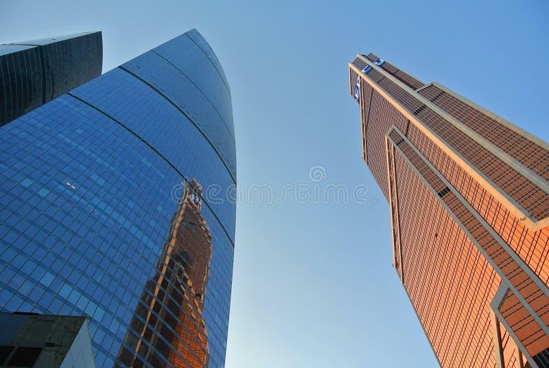 Nouvelle Moscou-ville ayant beaucoup d'étages de gratte-ciel photo libre de droits