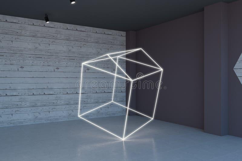 Nouvelle pièce avec l'installation illustration de vecteur