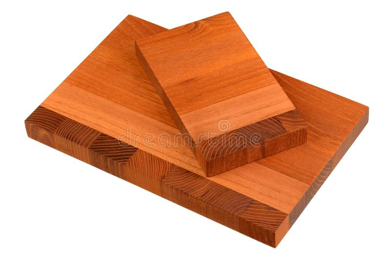 Nouvelle planche à découper en bois rectangulaire images stock