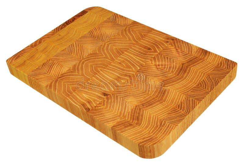 Nouvelle planche à découper en bois rectangulaire photo stock