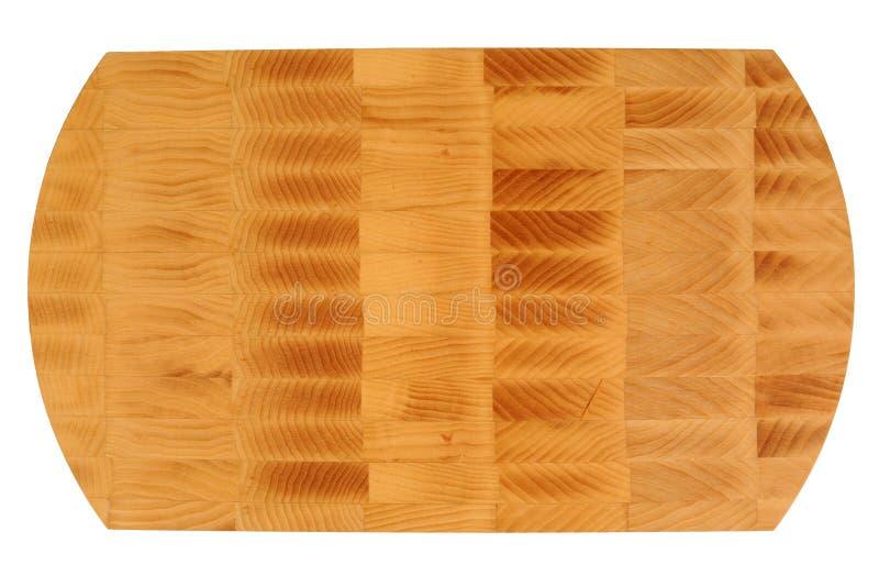 Nouvelle planche à découper en bois rectangulaire photographie stock libre de droits
